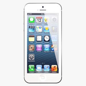3d iphone 5 white phone