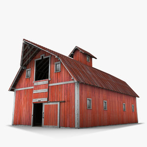 old farm red barn 3d 3ds