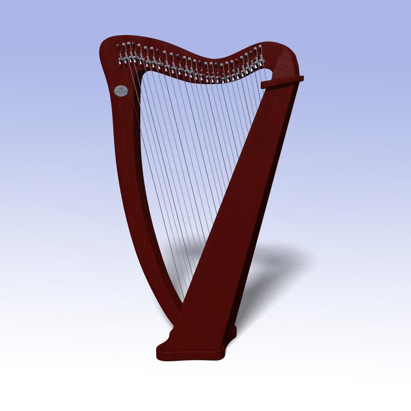 3d model camac harp