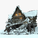 winter house 3D models