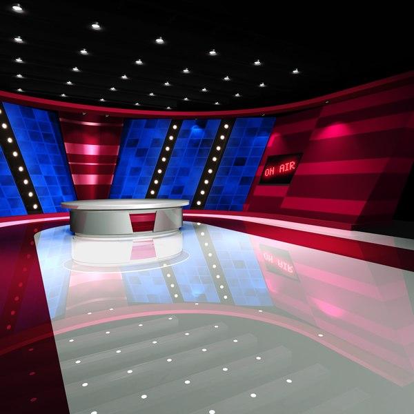 3d virtual set studio -