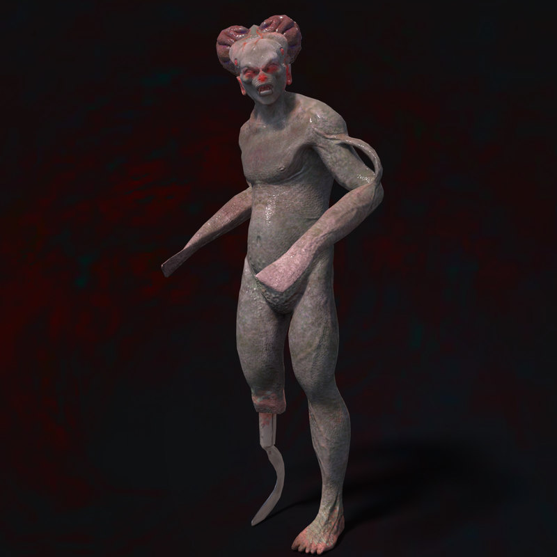 3d model monster character rigged creature