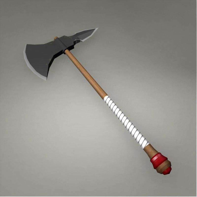 antique axe 3d model