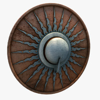 3ds max medieval buckler shield