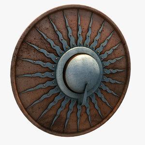3ds max medieval buckler shield