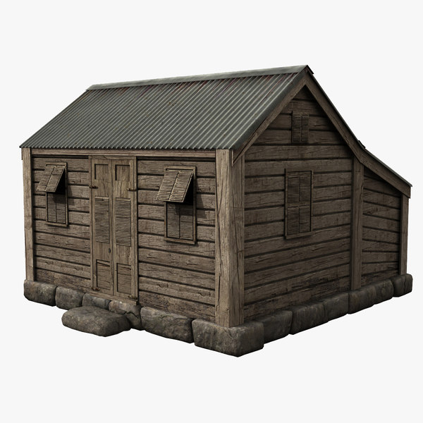3d model old chattel house