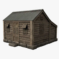 3d model old chattel house