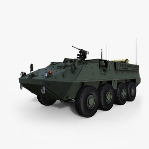 m1126 infantry carrier 3d model