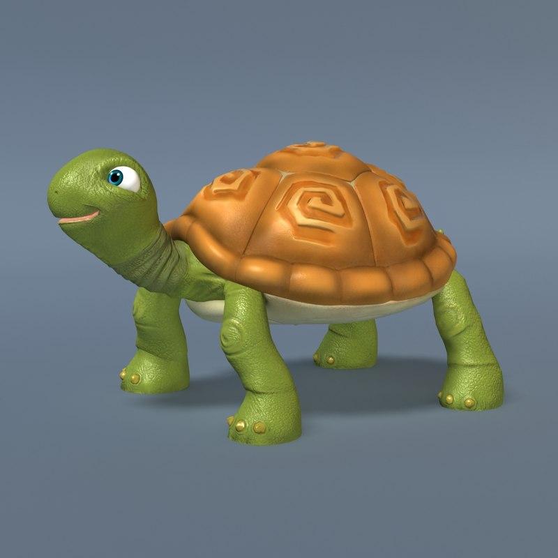 turtle toon 3d max