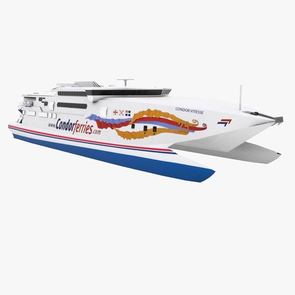 speed catamaran 3d model