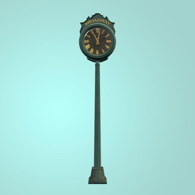 street clock 3ds