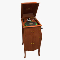 victor talking machine victrola 3d max