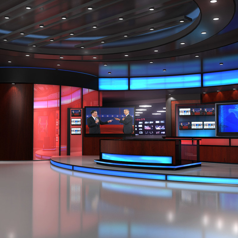3ds max virtual set elections news studio