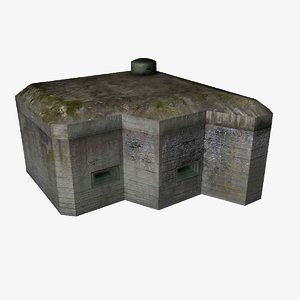 3ds max small bunker