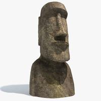 3d easter island moai statue model