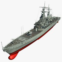 3d uss virginia cgn-38 model