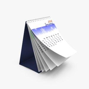 calendar flipping 3d ma