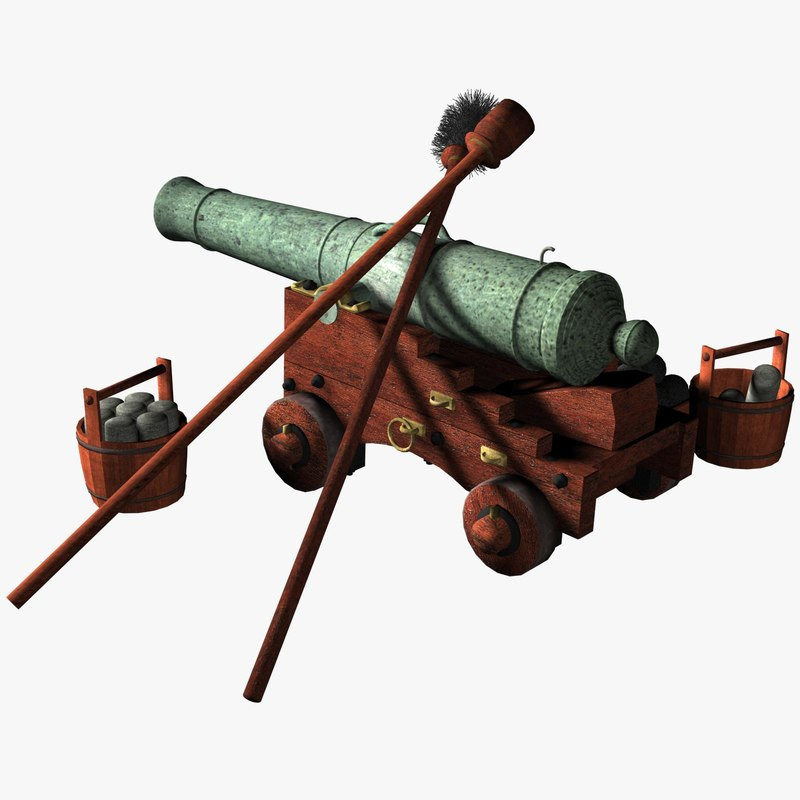 english cannon gun 1 3d max