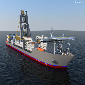 pipe-laying ship 3d max