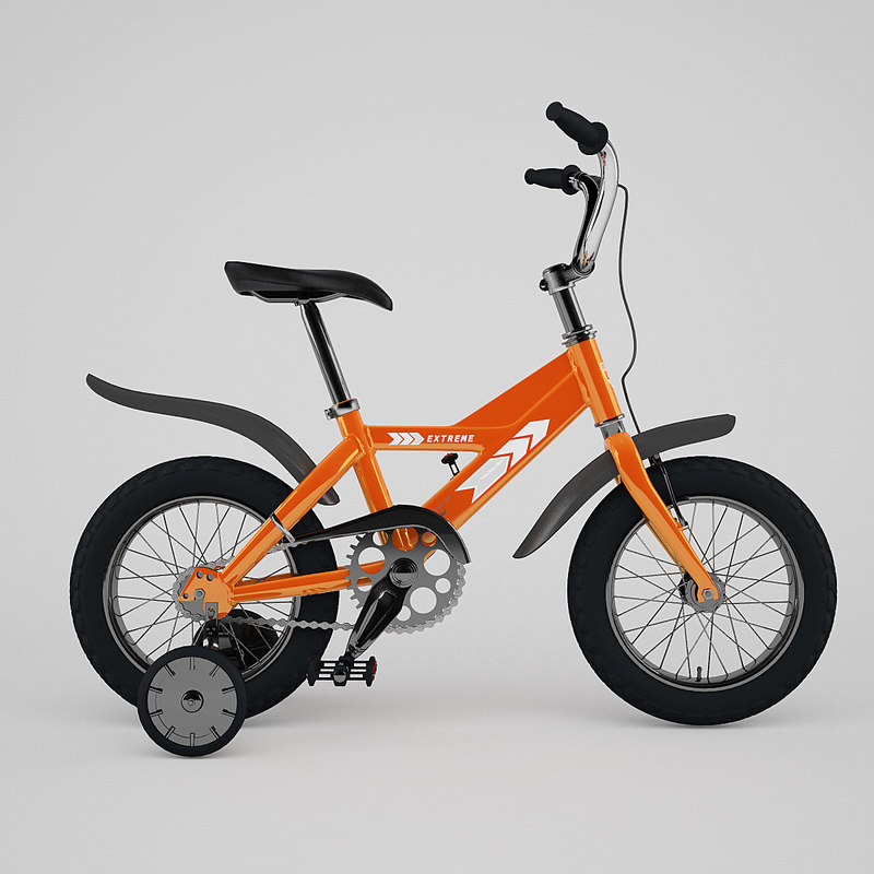 3d bicycle render