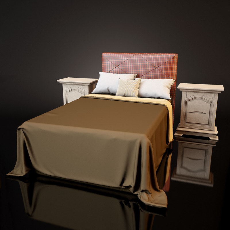 3d bed table - model