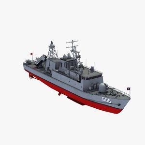 ching chiang patrol boat 3d model