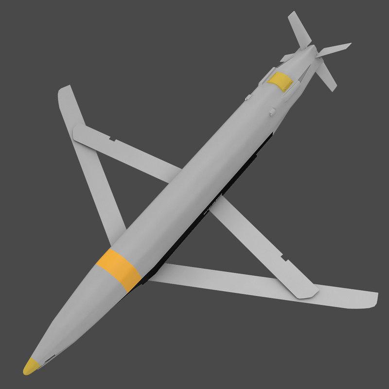 3d model gbu-39b small diameter bomb