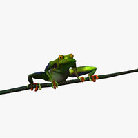3d tree frog animations