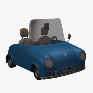 3d model sport cabriolet toon car