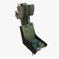 3d model of fighter aircraft ejection seat