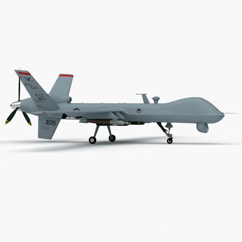 3d max mq-9 reaper 9
