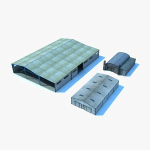 warehouses industrial plant 3d max