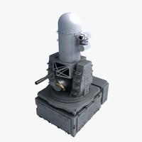 3d model ciws phalanx mk 15
