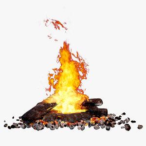 3d fireplace furnace