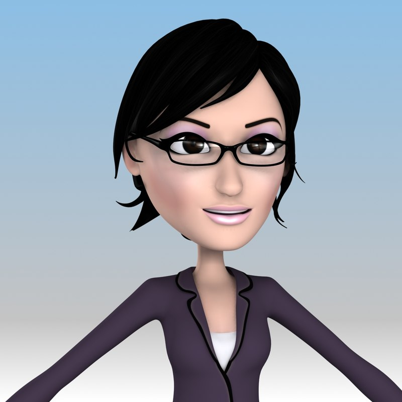Cartoon Characters With Short Hair : Female cartoon characters with short black hair