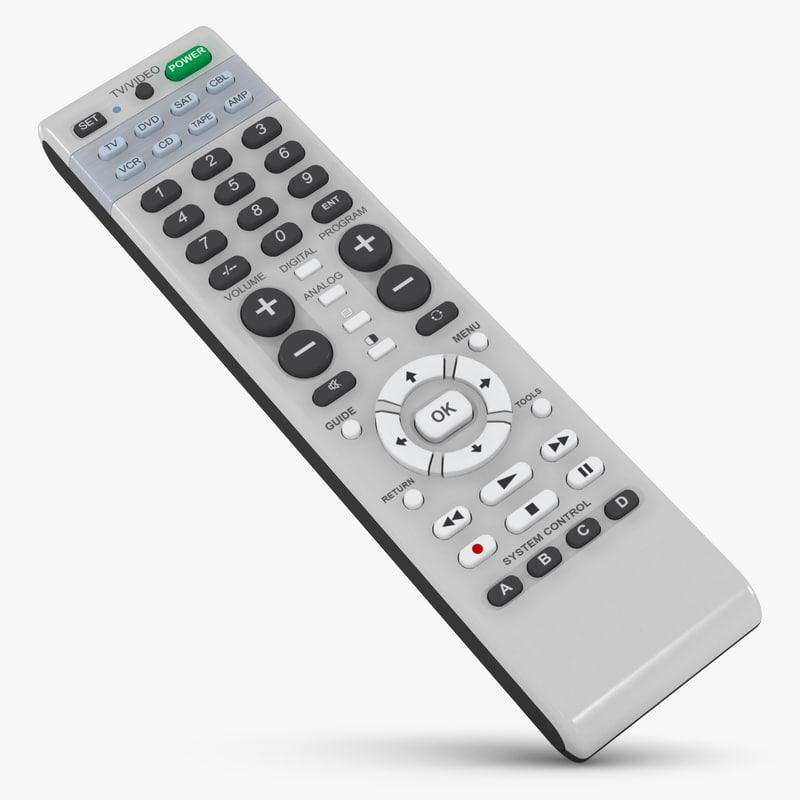 3d model remote control
