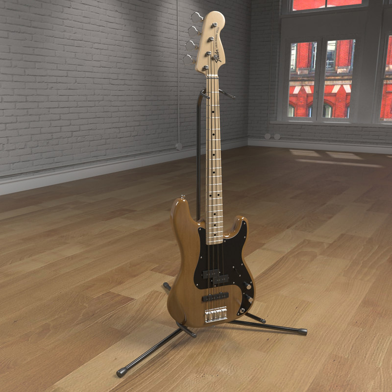 3d model precision bass guitar