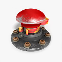 c4d red button