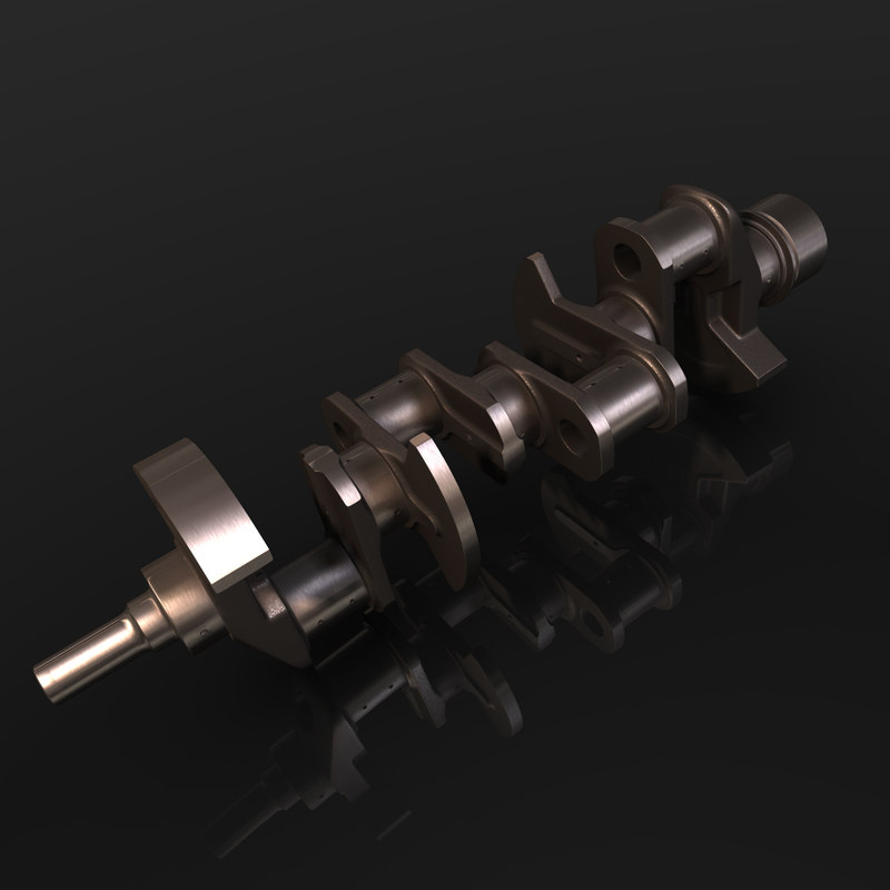 3d model of crankshaft engine