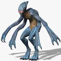 alien creature 3d max