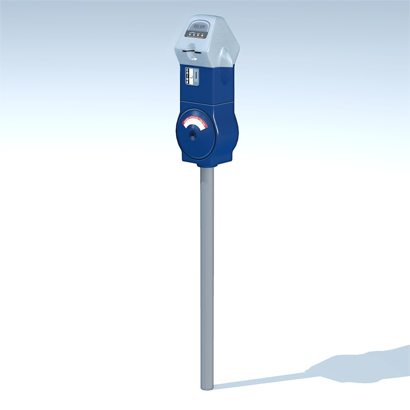 3d credit card parking meter model