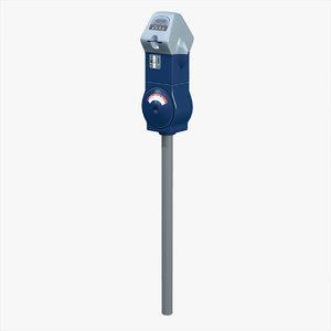 3d credit card parking meter model