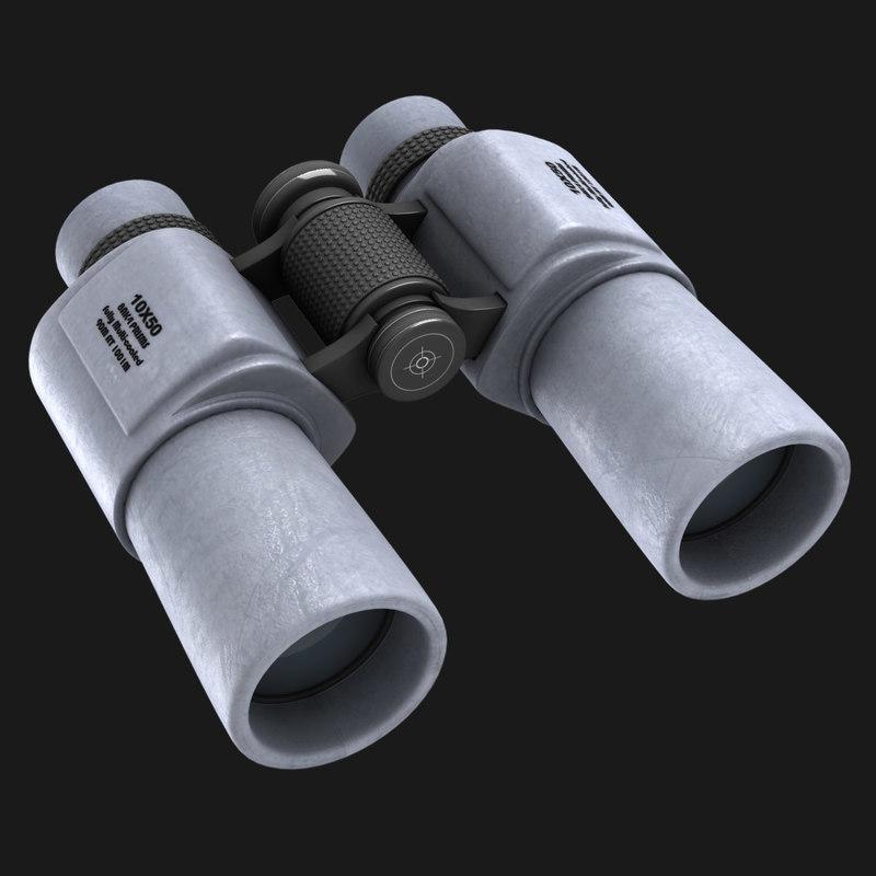 binoculars noculars 3d obj