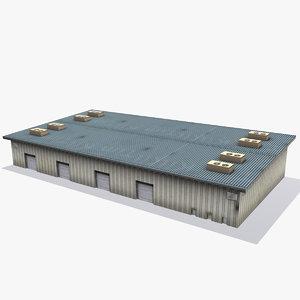 warehouse games ready 3d model
