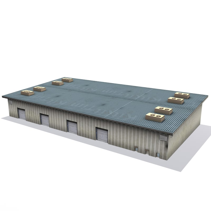 warehouse games ready 3d model