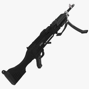 m240 machine gun 3d model