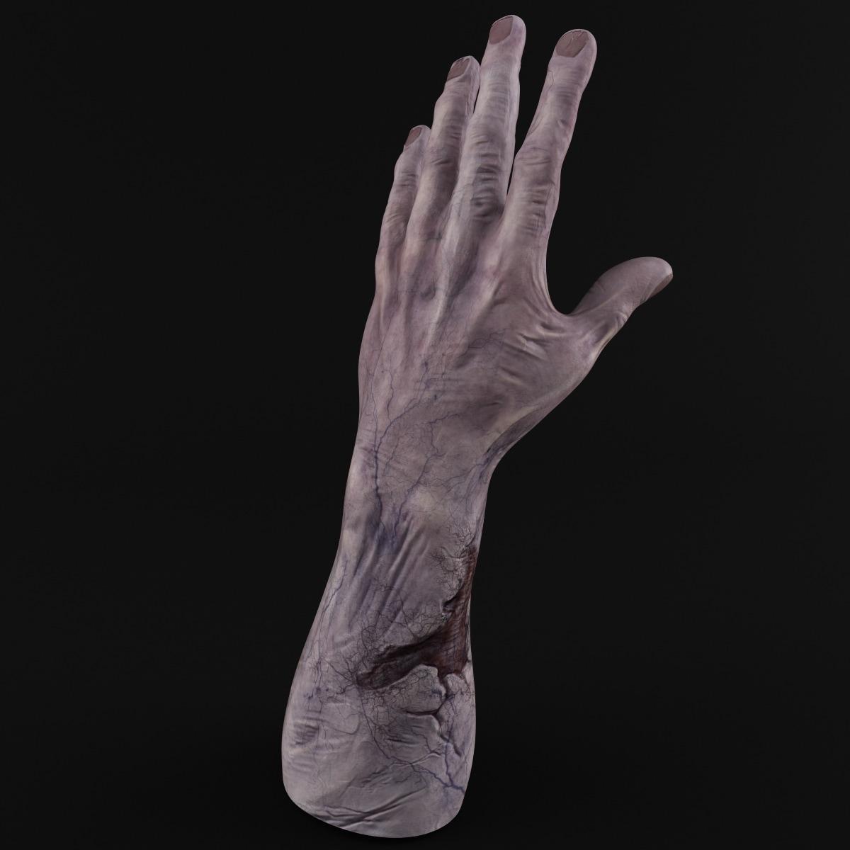 3d zombie hand model