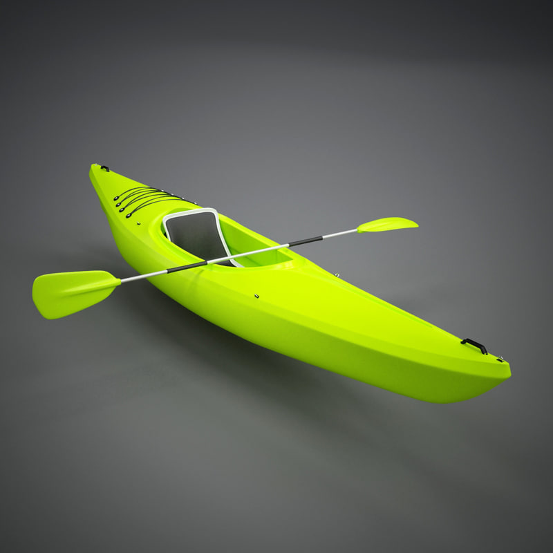 small recreational kayak 3ds