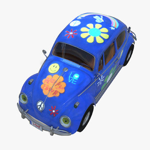 3d model hippy car toy