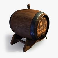 3ds max wine wooden barrel 4